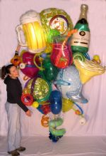 Happy 21st!Bouquets, arrangements and balloon art for that special Birthday... Over 10'0
