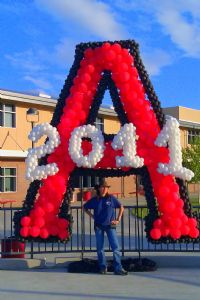 Logo and NumbersAntelope High School Logo for graduation day photo backdrop area Click To Zoom