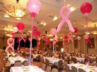 Breast Cancer Ribbons and Centerpieces Click To Zoom