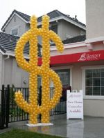 Dollar Days*Giant Custom Sculptures for any event!  Dollar signs, money, promotional balloons, advertising balloons, company logos. Click To Zoom