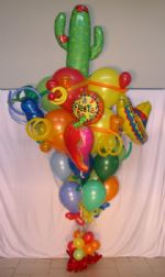 Fiesta BouquetIt's fiesta time!  Fiesta balloons and Cinco de Mayo, cactus balloons, chilli pepper, habanera, sombrero, ballon bouquets, balloon arrangements and balloon art delivered to Sacramento and surrounding areas, including Roseville, Lincoln, Yuba City, Grass Valley, Granite Bay, Folsom, El Dorado Hills, Auburn, Woodland,Fair Oaks,Citrus Heights, Loomis, Rocklin, etc Click To Zoom