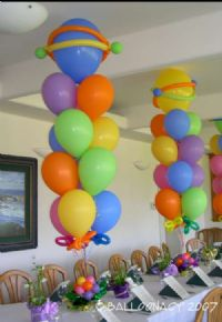 Bouquet CenterpieceAdd pizzazz to any event with bouquet centerpieces and arrangements done our special way with Balloonacy's famous balloon art. Click To Zoom
