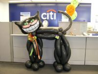 Citi Kitty*What a cat!  6 feet tall, this is a winner for the cat lover in all of us!  Especially good for Halloween!  Tiger also available. Sculptures and balloon arrangements delivered to Sacramento and surrounding areas, including Roseville, Lincoln, Granite Bay, Folsom, El Dorado Hills, Auburn, Citrus Heights, Loomis, Rocklin, Natomas,etc Click To Zoom