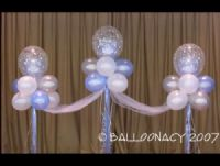 Magical Fantasy CloudsHead Table Decor to create a beautiful backdrop for your photos!  Balloons inside balloons, tulle, wedding, quinceanera, anniversary. Click To Zoom