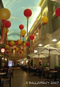 Lantern Style Floating 3' BalloonsAwesome ceiling displays for high traffic areas! Click To Zoom
