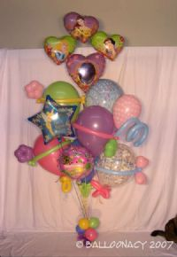 Princess BouquetDisney Princesses! Select from Snow White, Ariel, Belle or Cinderella to make her dreams come true!  We love Disney balloons! Ask about our best selling pink Disney Princess bouquets and arrangements Click To Zoom