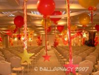 3' Balloons with StarsGiant balloons, glittered stars, and loads of ribbon made every employee feel as if they were they star of the show! Click To Zoom